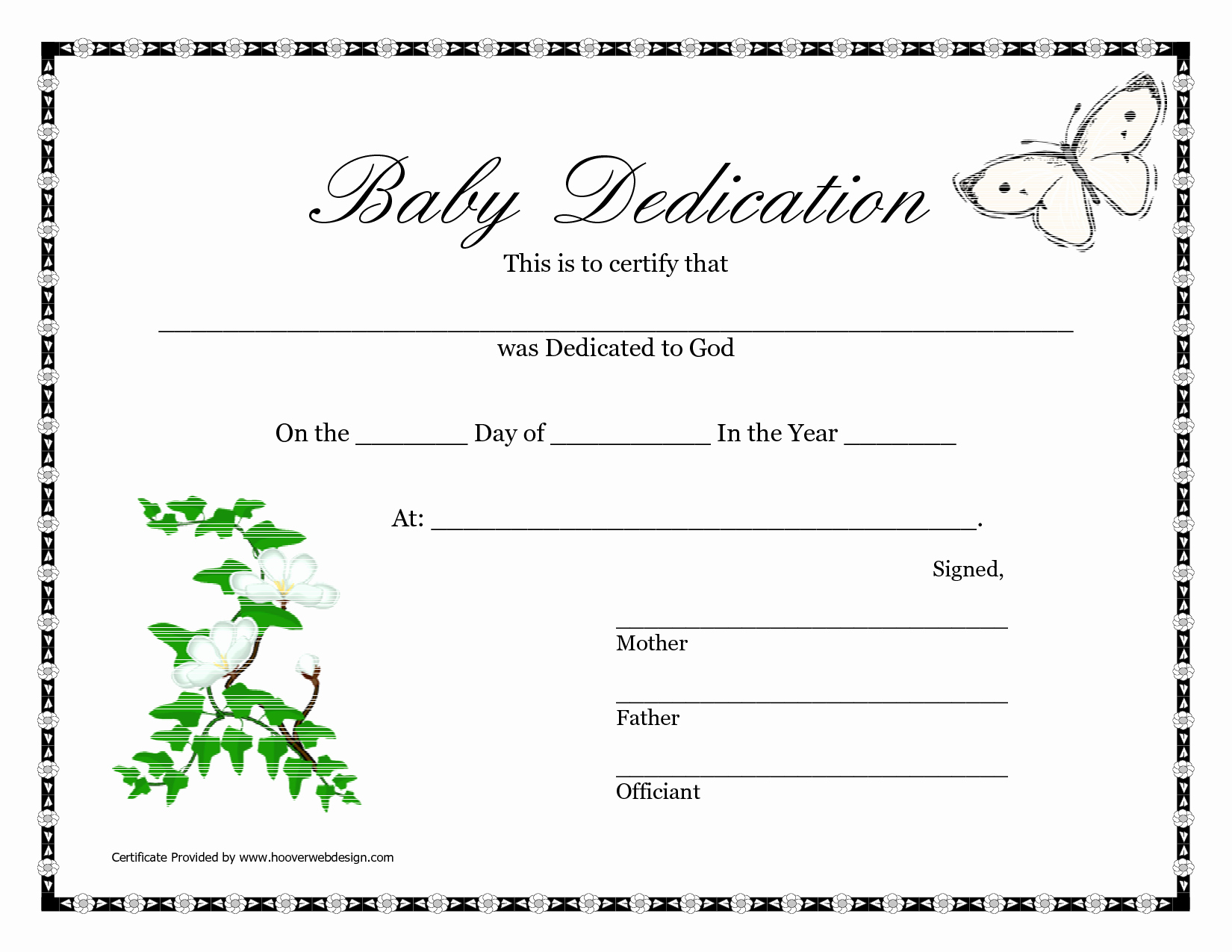 Child Dedication Certificate Template Inspirational Best S Of Baby Certificate Template Free Printable