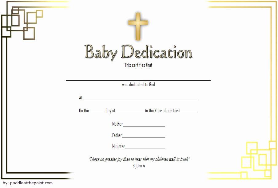 Child Dedication Certificate Template Unique 7 Free Printable Baby Dedication Certificate Templates Free
