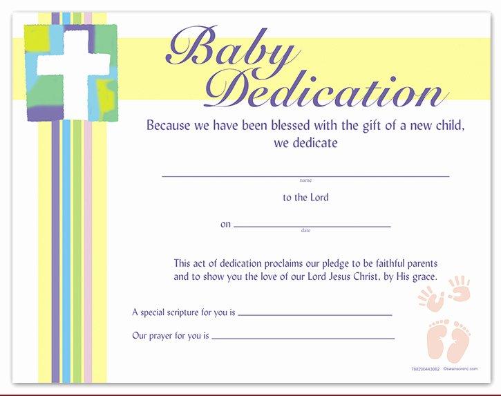 Child Dedication Certificate Templates Elegant Baby Dedication Certificate Worship Supplies