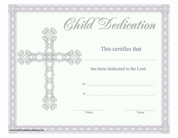 Child Dedication Certificate Templates Unique 18 Baby Dedication Certificate Template Free Download