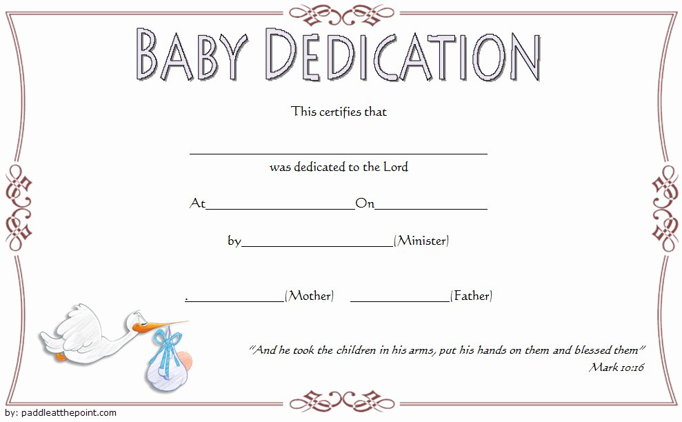 Child Dedication Certificate Templates Unique 7 Free Printable Baby Dedication Certificate Templates Free