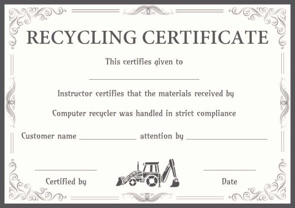 Children's Product Certificate Template Best Of Certificate Of Product Destruction Template