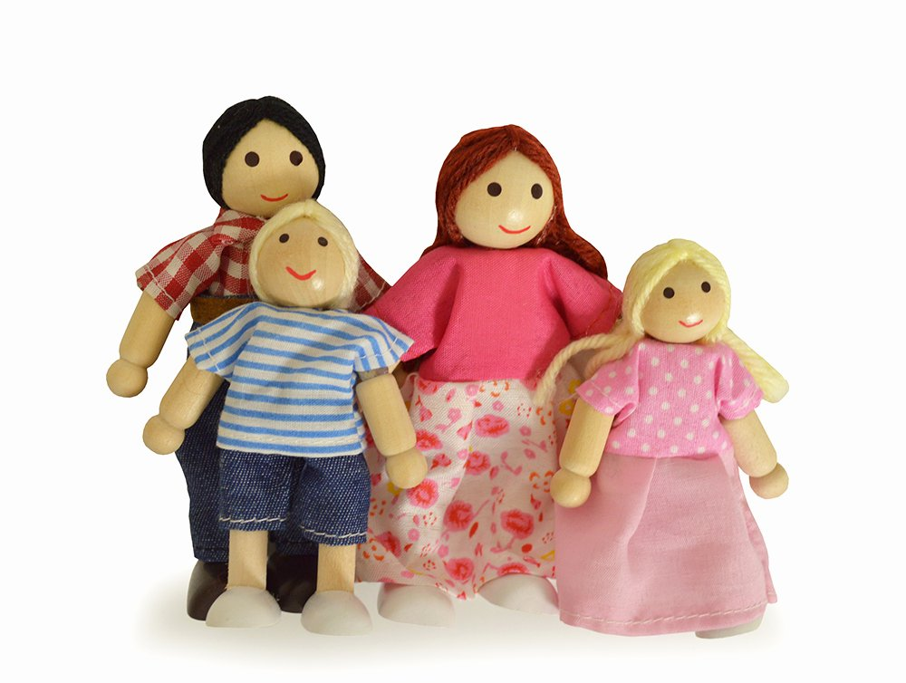 Children's Product Certificate Template Unique Children S Wooden Dolls House Family Figures with Two