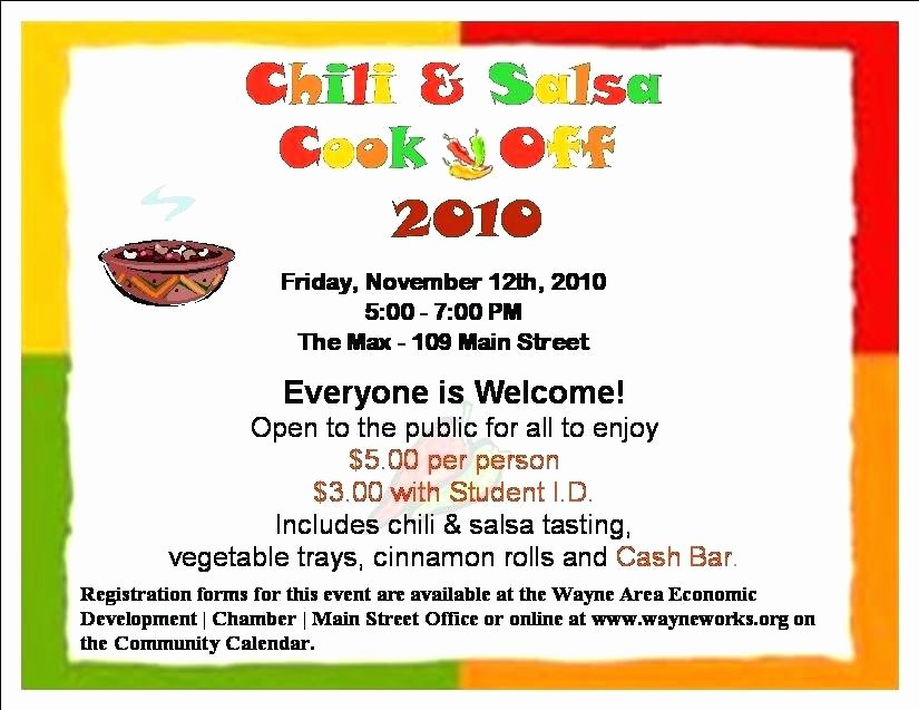 Chili Cook Off Award Certificate Template Beautiful Chili Cook F Template Erieairfair
