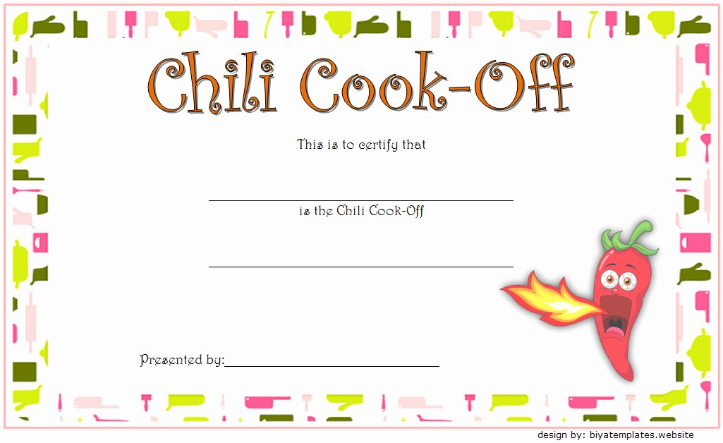 Chili Cook Off Award Certificate Template Elegant Chili Cook F Certificate Template 10 Best Ideas