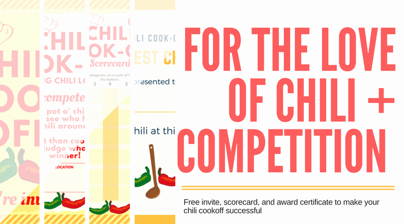 Chili Cook Off Award Certificate Template Fresh Chili Cook Off Insider Another Free Invite Scorecard