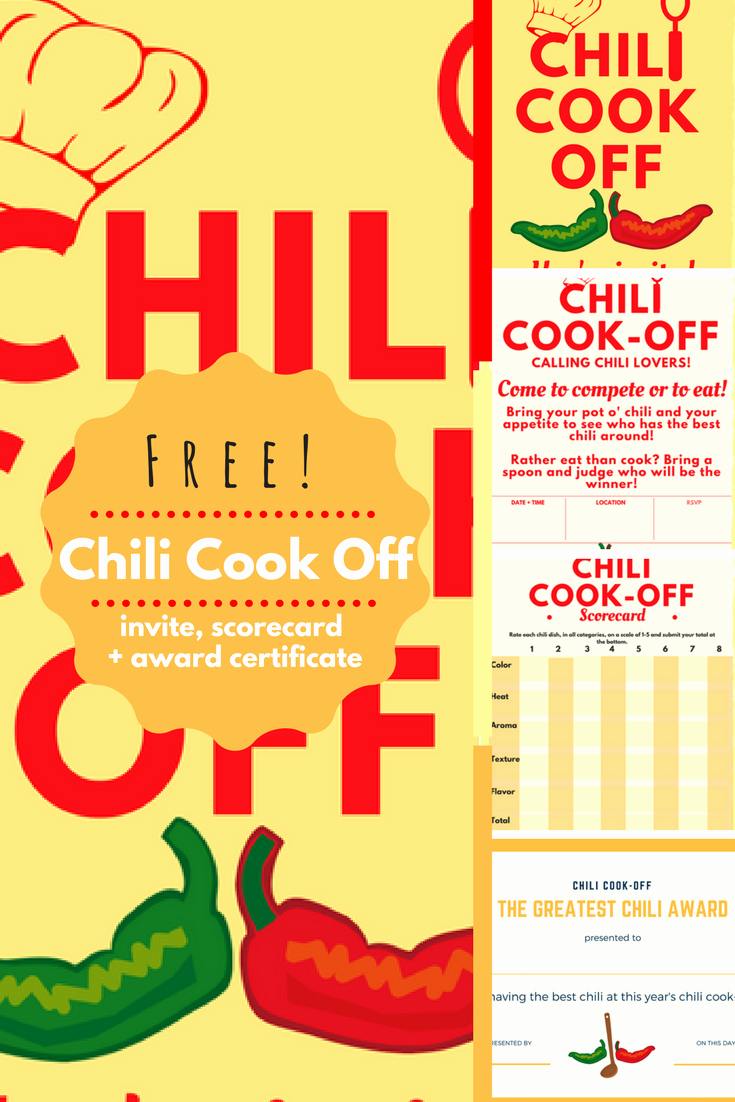 Chili Cook Off Award Certificate Template Luxury Chili Cook Off Insider Another Free Invite Scorecard