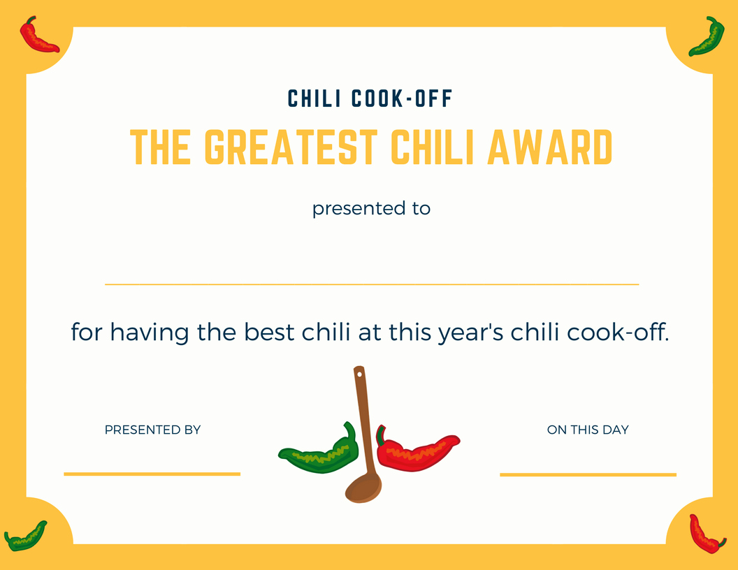 Chili Cook Off Certificate Template Best Of Chili Cook Off Insider Another Free Invite Scorecard