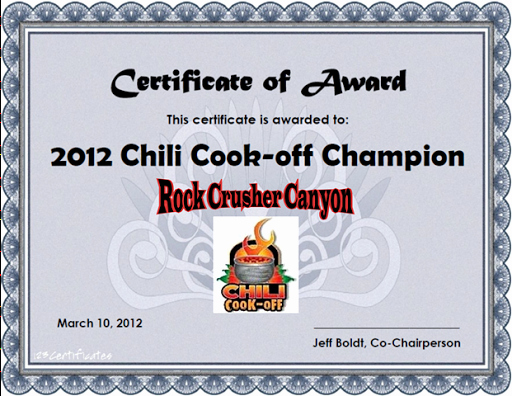 Chili Cook Off Certificate Template Elegant 10 Best S Of Chili Cook F Awards Printable Chili