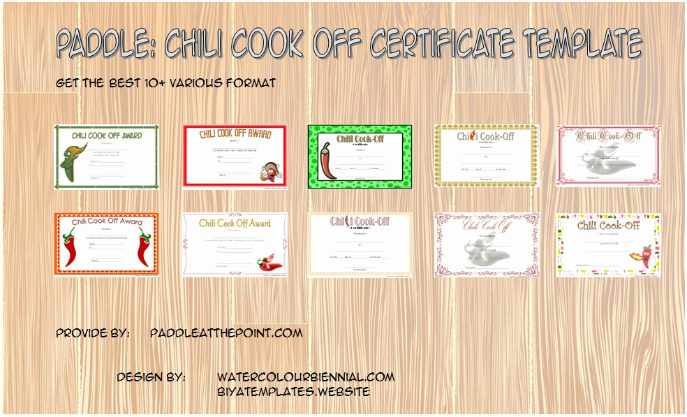 Chili Cook Off Certificate Template Lovely Chili Cook F Certificate Template 10 Best Ideas