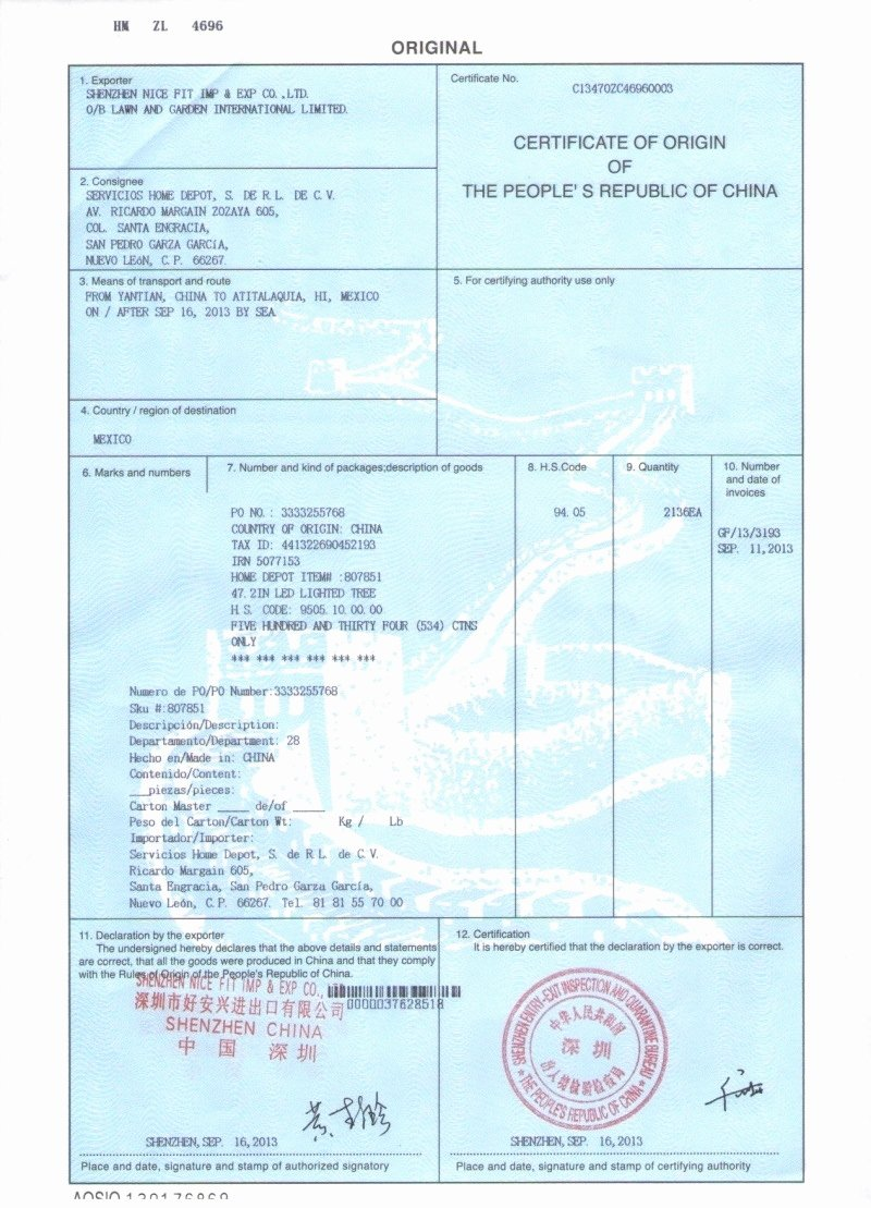 China Certificate Of origin Template Fresh Abs China Certificate Of origin