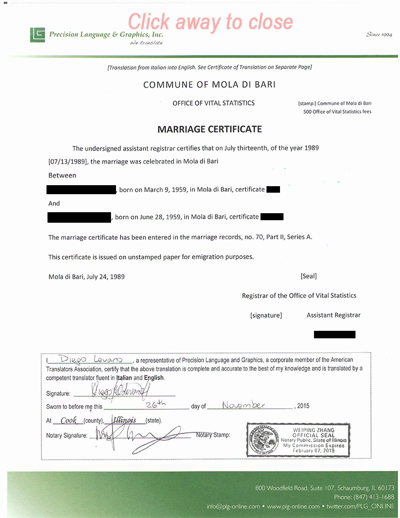Chinese Marriage Certificate Translation Template Inspirational Wedding Certificate Translated Into English