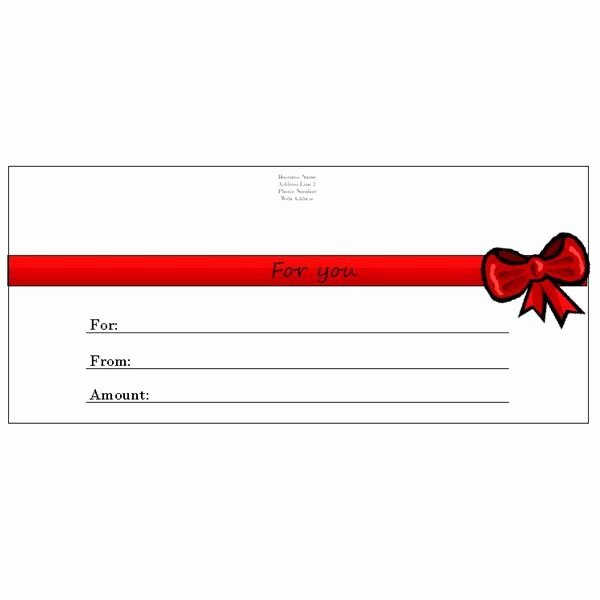 Chinese Restaurant Gift Certificate Template Beautiful whether You Have A Business and Need to Make A Spa or