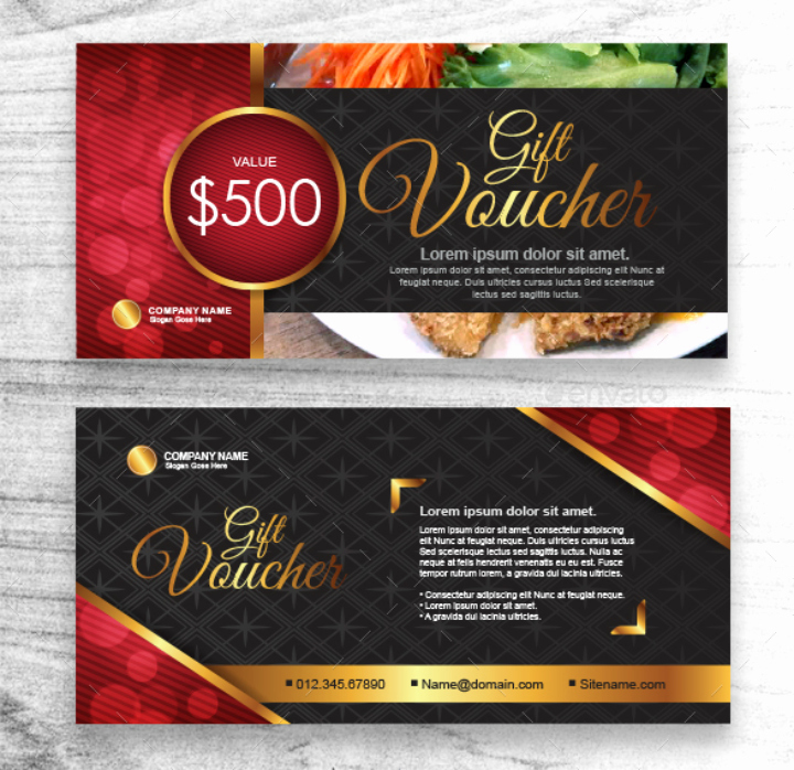 Chinese Restaurant Gift Certificate Template Best Of 29 Restaurant Promo Card Templates