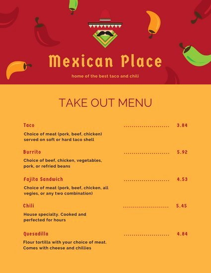 Chinese Restaurant Gift Certificate Template Best Of Customize 45 Mexican Menu Templates Online Canva