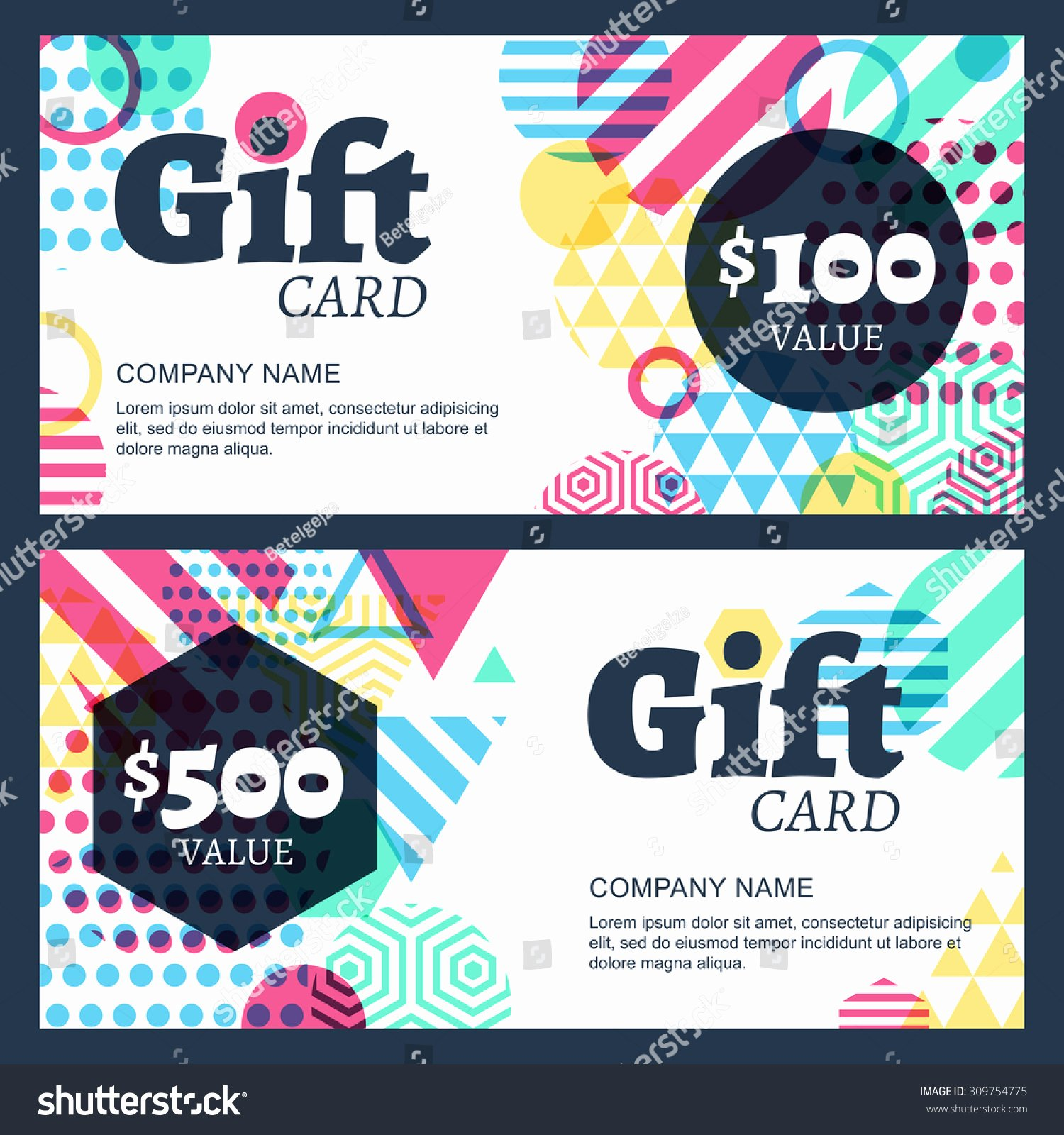 Chinese Restaurant Gift Certificate Template Elegant Vector Creative Gift Voucher Card Background Stock Vector