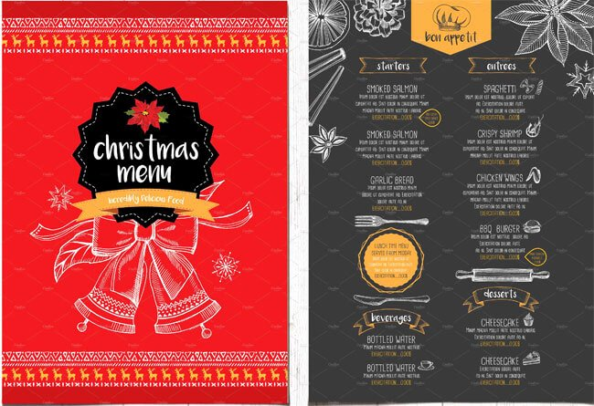 Chinese Restaurant Gift Certificate Template Inspirational 13 Best Christmas Menu Templates for Any Restaurant