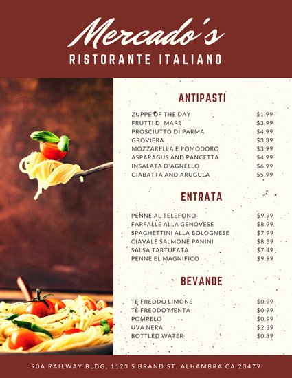 Chinese Restaurant Gift Certificate Template Inspirational Customize 156 Italian Menu Templates Online Canva