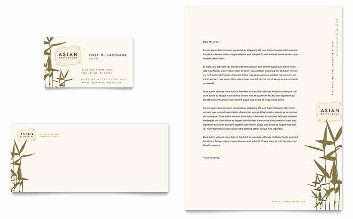 Chinese Restaurant Gift Certificate Template Lovely asian Restaurant Business Card & Letterhead Template Design