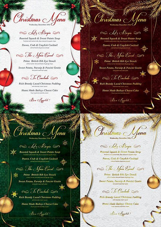 Chinese Restaurant Gift Certificate Template Unique 13 Best Christmas Menu Templates for Any Restaurant