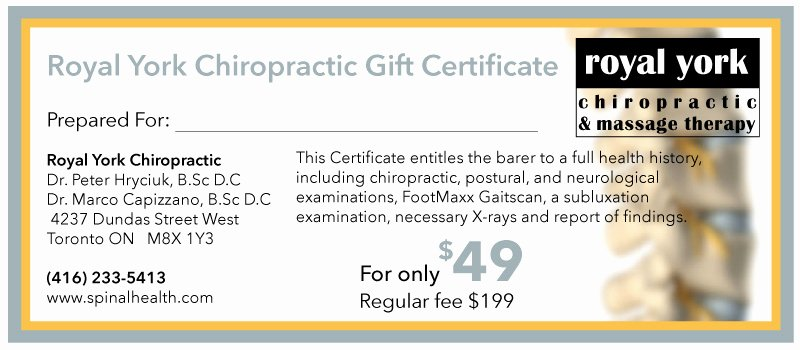 Chiropractic Gift Certificate Template Best Of Examinations – Spinal Health