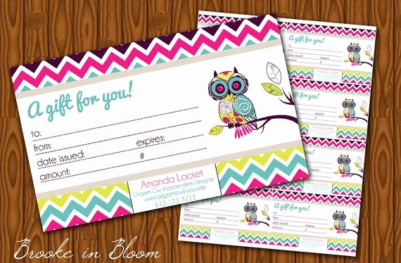 Chiropractic Gift Certificate Template Fresh Custom origami Owl Gift Certificate Printable by Bibd
