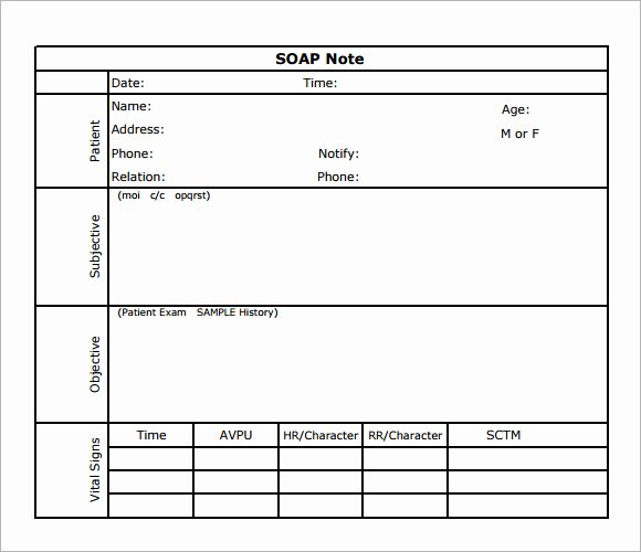 Chiropractic soap Notes Template Free Luxury Best S Of soap Note Template Acupuncture soap Note