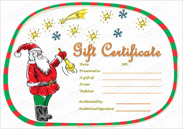 Christmas Award Certificate Template Awesome 20 Christmas Gift Certificate Templates Word Pdf Psd
