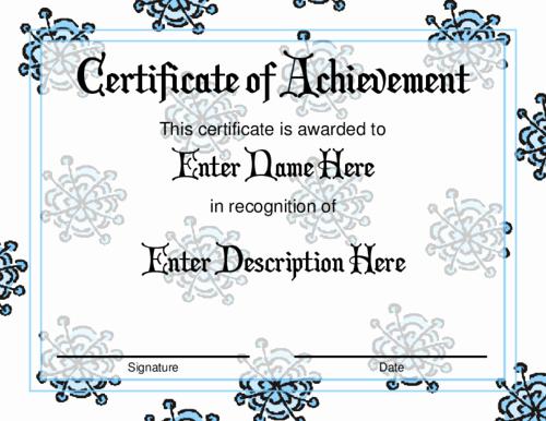 Christmas Award Certificate Template Elegant Award Christmas Templates – Festival Collections