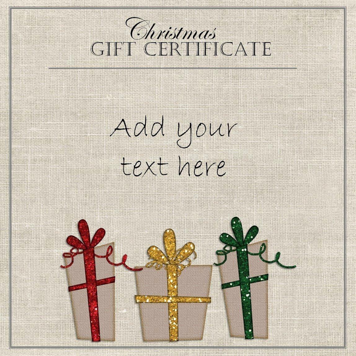 Christmas Award Certificate Template Fresh Free Christmas Gift Certificate Template