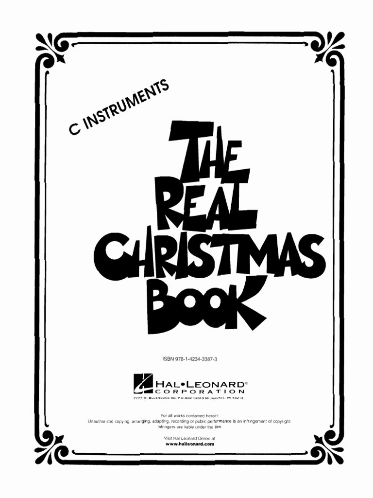 Christmas Fake Book Pdf Download Free Elegant the Real Christmas Book Pdf