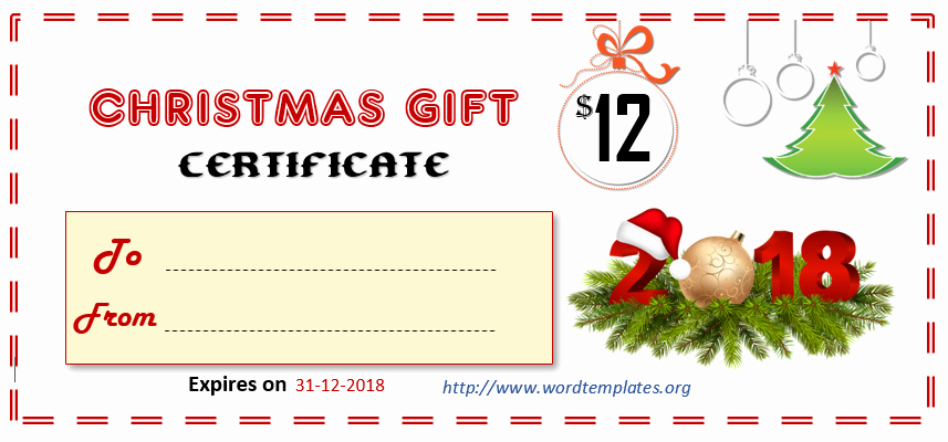 Christmas Gift Certificate Template Word Awesome Printable Gift Certificate Templates for 2018 – 15 Free