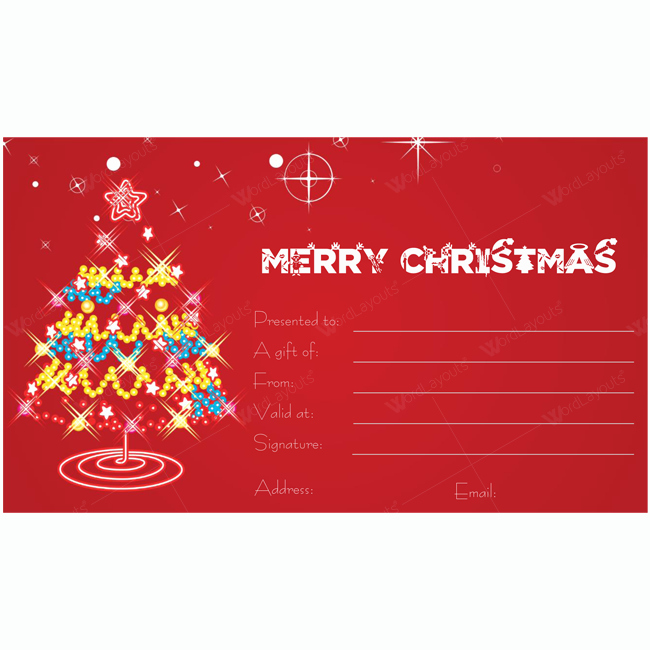 Christmas Gift Certificate Template Word Fresh Christmas Gift Certificate Template 04 Word Layouts