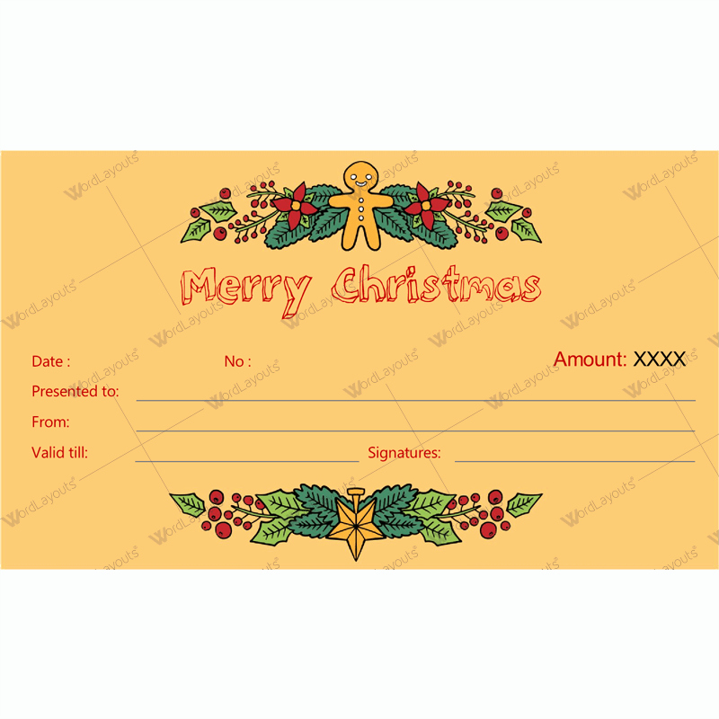 Christmas Gift Certificate Template Word Fresh Christmas Gift Certificate Template 34 Word Layouts
