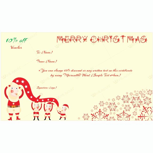 Christmas Gift Certificate Template Word Luxury 61 Best Merry Christmas Gift Certificate Templates Images