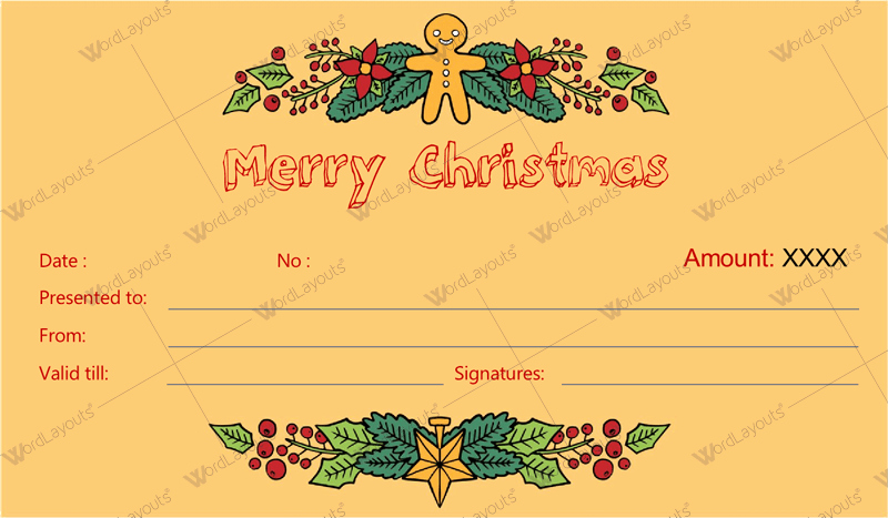 Christmas Gift Certificate Template Word New 12 Beautiful Christmas Gift Certificate Templates for Word