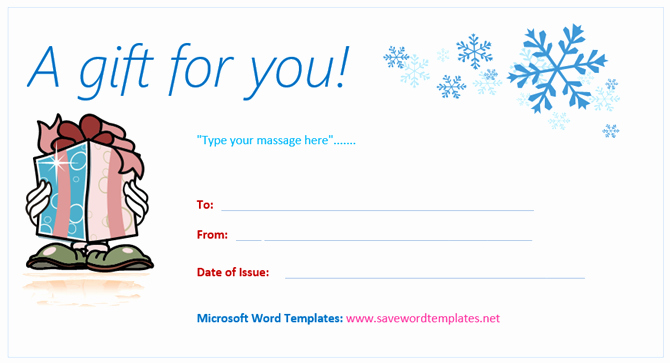 Christmas Gift Certificate Template Word New Get A Free Gift Certificate Template for Microsoft Fice