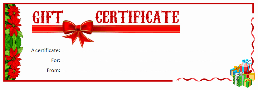 Christmas Gift Certificate Template Word New Sample Payment Voucher for Ms Word