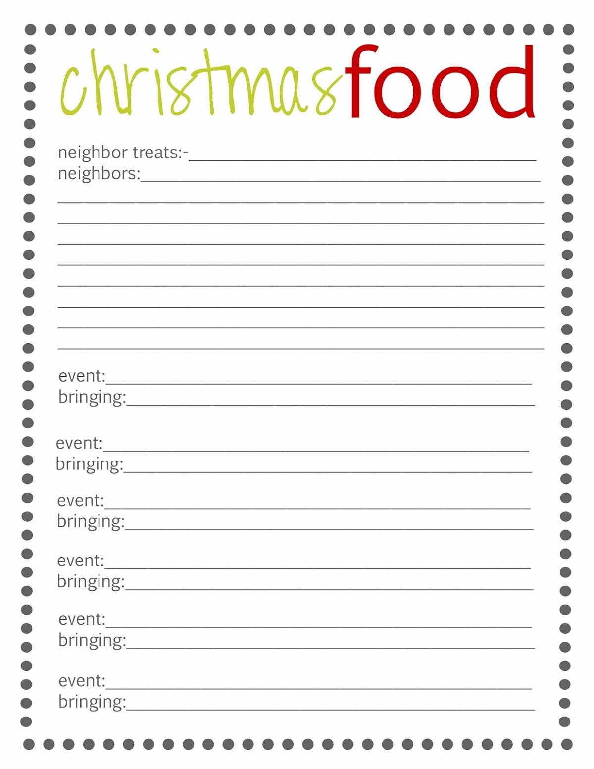 Christmas Potluck Sign Up Sheet Inspirational Holiday Sign Up Sheet Templates Free