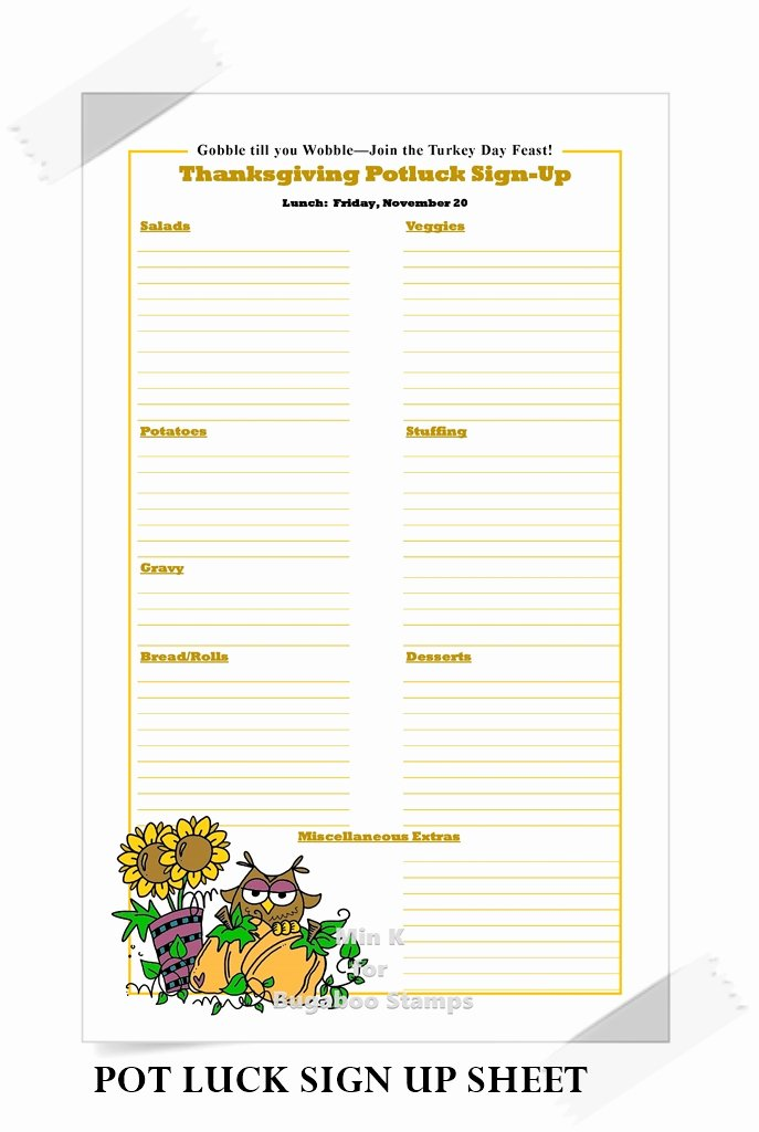 Christmas Potluck Sign Up Sheet New Catch the Bug Challenge Blog Favorite Abc Projects Of