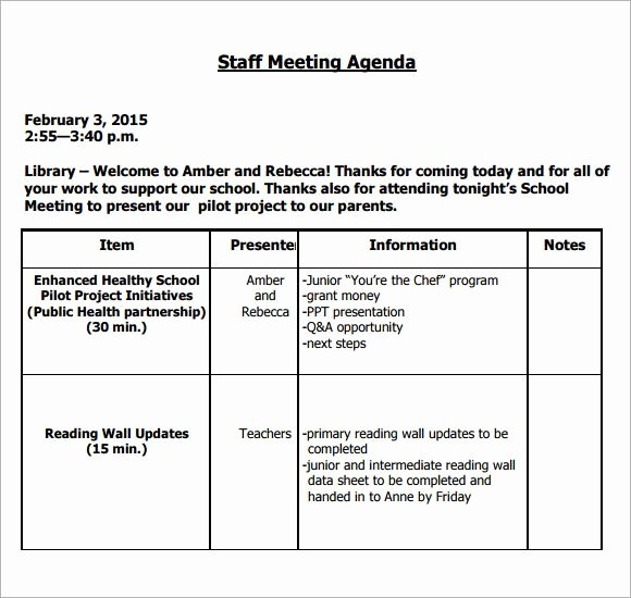Church Staff Meeting Agenda Template Awesome Image Result for Teacher Staff Meeting Agenda Template