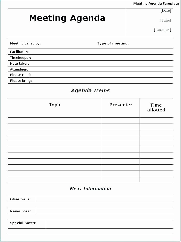 Church Staff Meeting Agenda Template Beautiful Project Meeting Notes Template