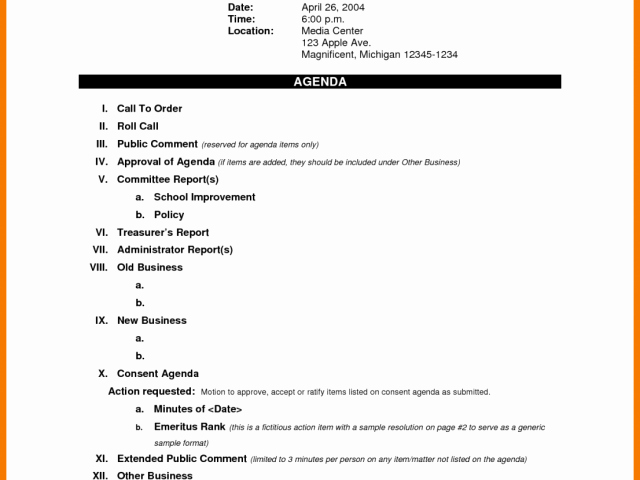 Church Staff Meeting Agenda Template Best Of Business Meeting Agenda Template List Church Staff