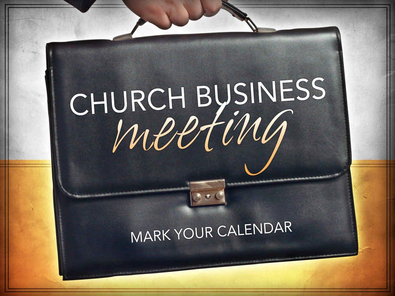 Church Staff Meeting Agenda Unique Church Business Meeting – Open Door Baptist Church