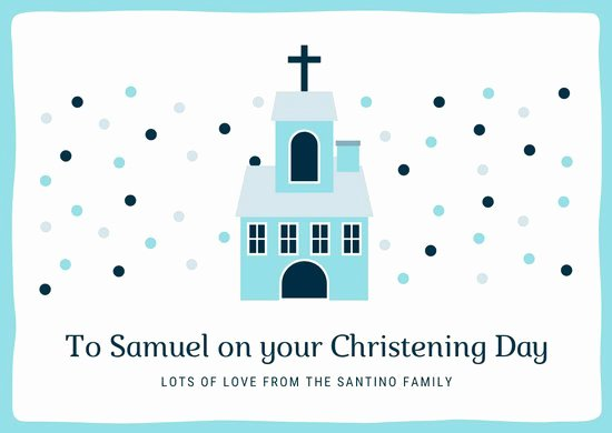 Church Visitor Card Template Generator Best Of Customize 96 Christening Card Templates Online Canva