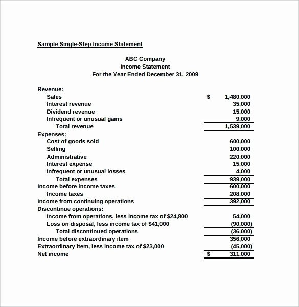 Classified Income Statements Beautiful 11 Classified In E Statement format