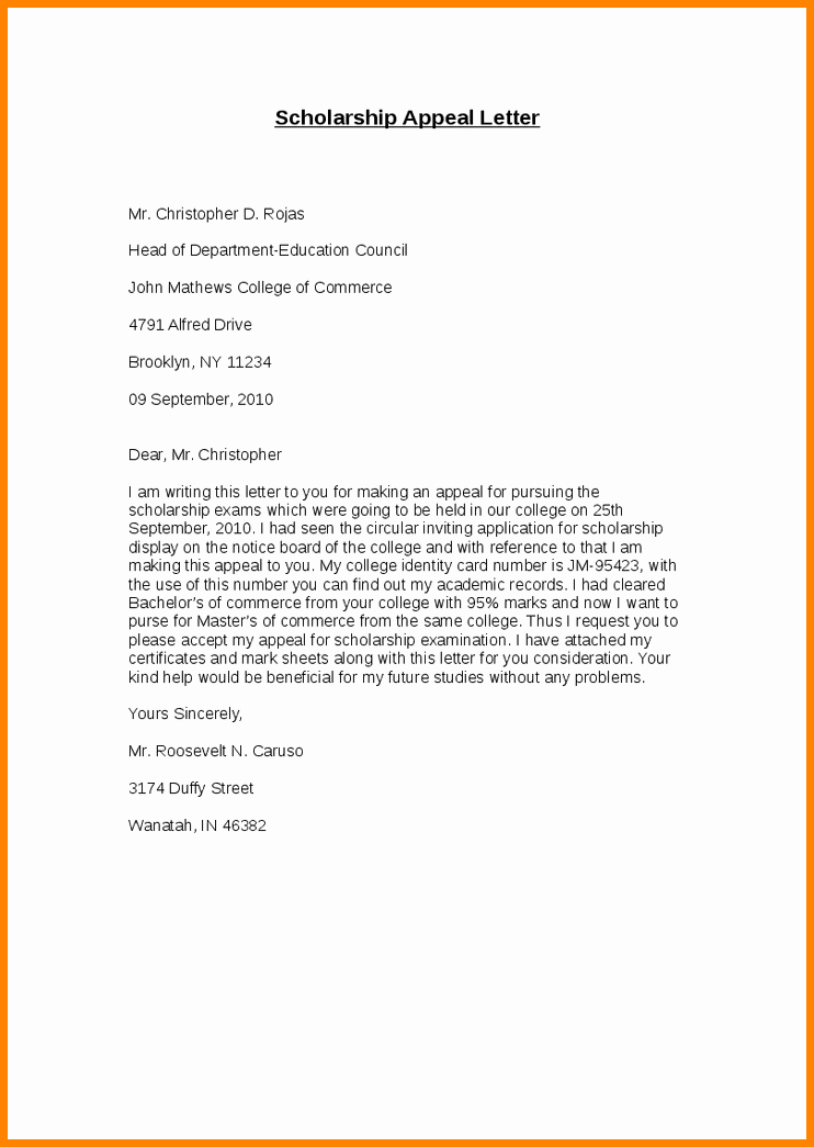 College Appeal Letter Example Fresh 8 How to Write An Appeal Letter for College