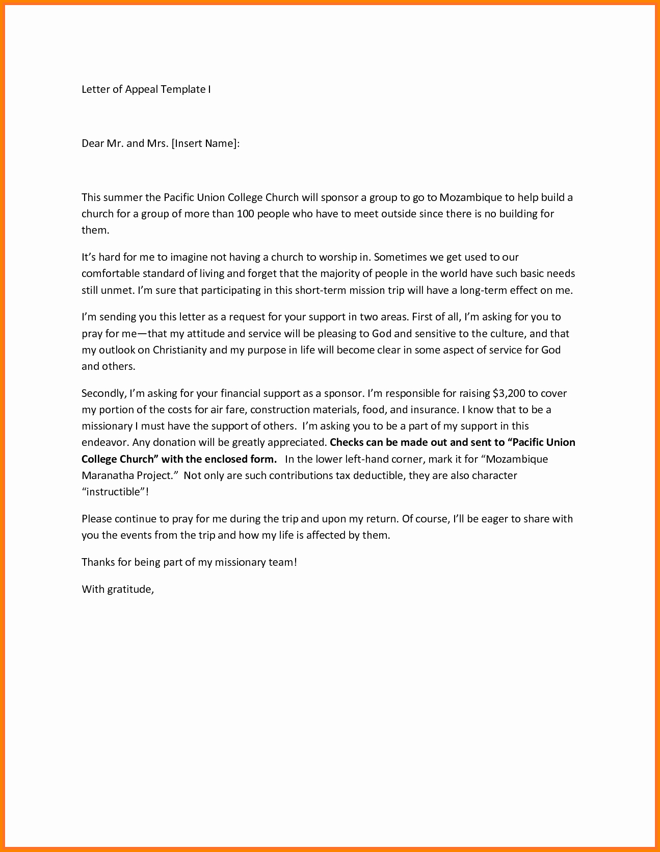 College Appeal Letter Example Lovely 24 Of Example College Admission Appeal Template