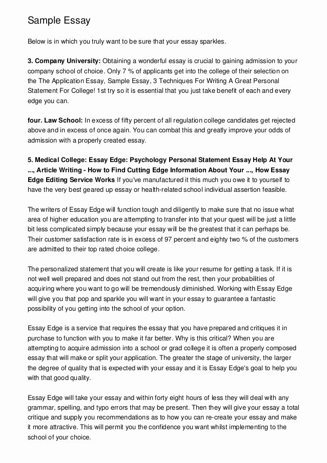 College Application Sample Awesome University Entrance Essay Help