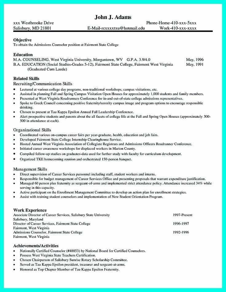 College Application Sample Best Of Pin On Resume Template